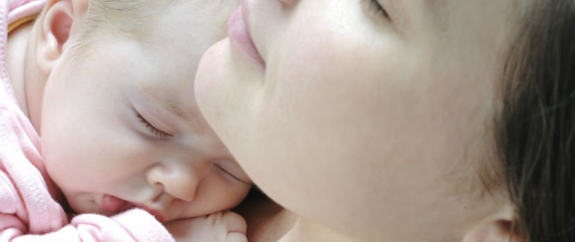 Mother and child after birth